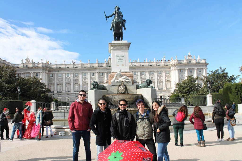 Turist group in Madrid