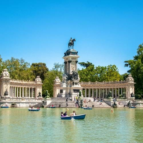Monument to Alfonso the 12th at the Retiro
