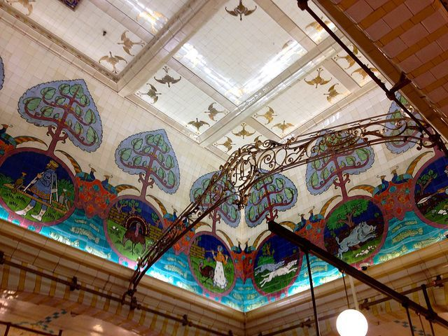 Harrods Food hall ceiling