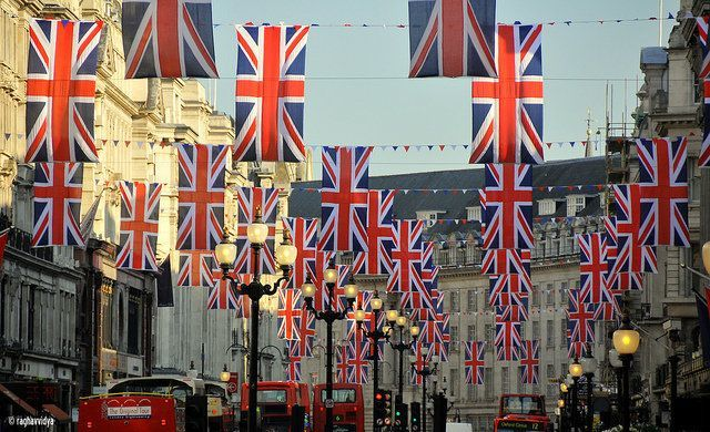 Oxford Street Union Jack Flags