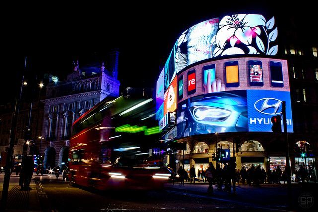 Night Lights Piccadilly Circus