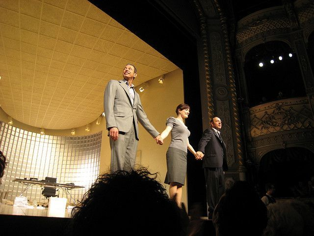 Old Vic Kevin Spacey Bow on Stage